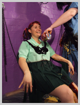 Lady Samantha gunge-tests a finishing school sports uniform featuring Lady Samantha, the noted equestrian