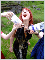 Morgana gets cola-bathed in PVC in the Highlands featuring Morgana, the lass from Argyll