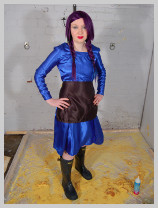 Full gunge test of a Hall servants uniform featuring Prudence, the Houskeeper,
