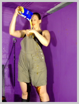 Veronica fills her dungaree shorts with gunge! featuring Veronica Ravenblack, International adventurer