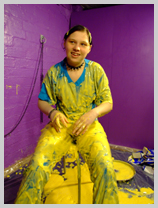 Nurse Wendy-Household gunge-tests a medical scrub suit featuring Nurse Wendy-Household, Registered Gunge Nurse