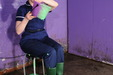view details of set gm-2g006, Smart tunic and trousers unifiorm, lots of green gunge!