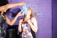 view details of set gm-2g049, Friday and Felicity fill each other's lycra sportswear with gallons of goo!
