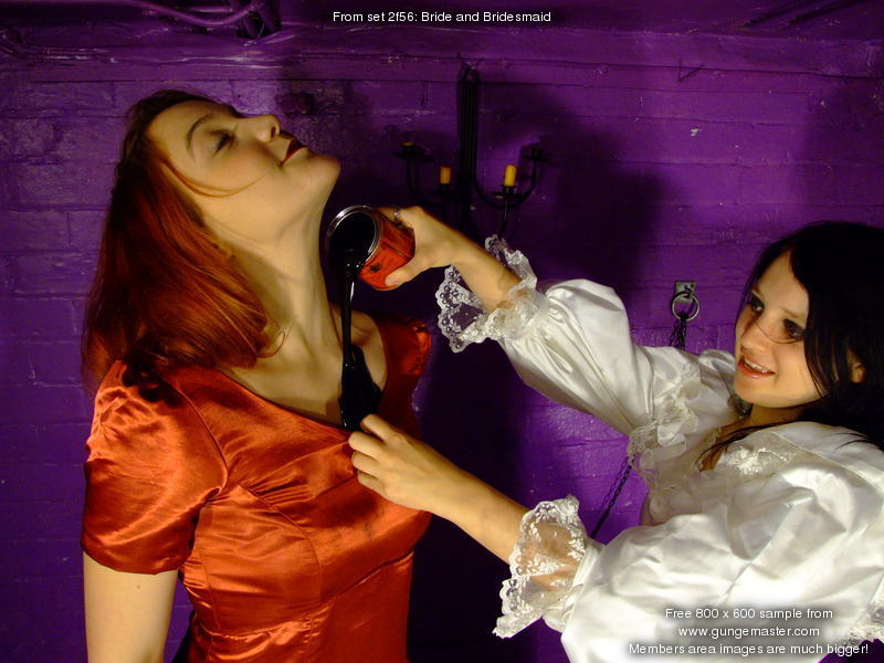 Bride And Bridesmaid Just How Much Treacle Can You Get