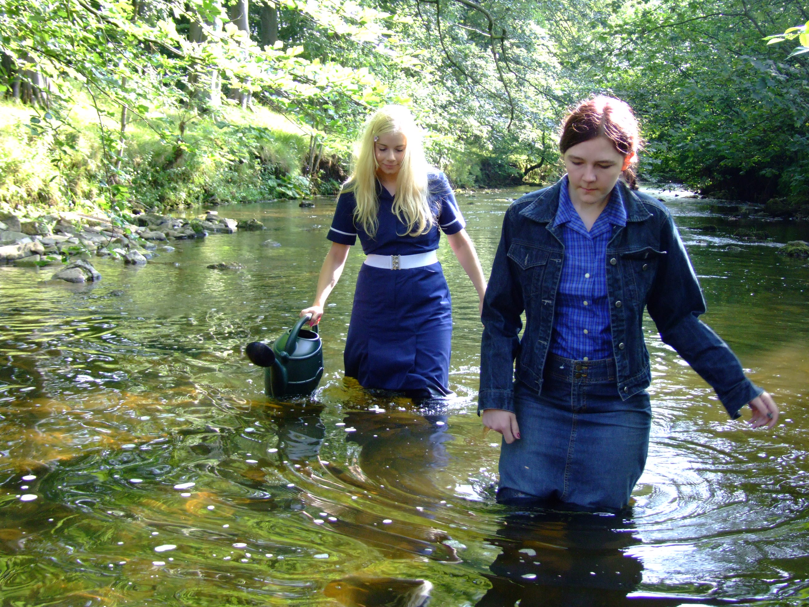 Modesty Wets Chastity Two Wet Wenches In The River
